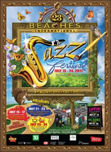 Poster for Beaches International Jazz Festival
