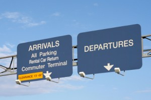 Photo of the Airport signs
