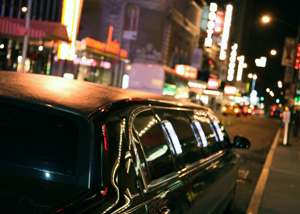 Photo of a Limousine driving through Toronto