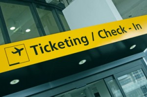 Airport ticketing or checkout location