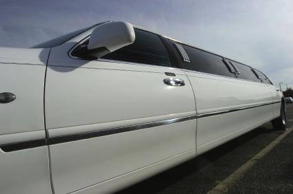 Close-up of stretch Limousine