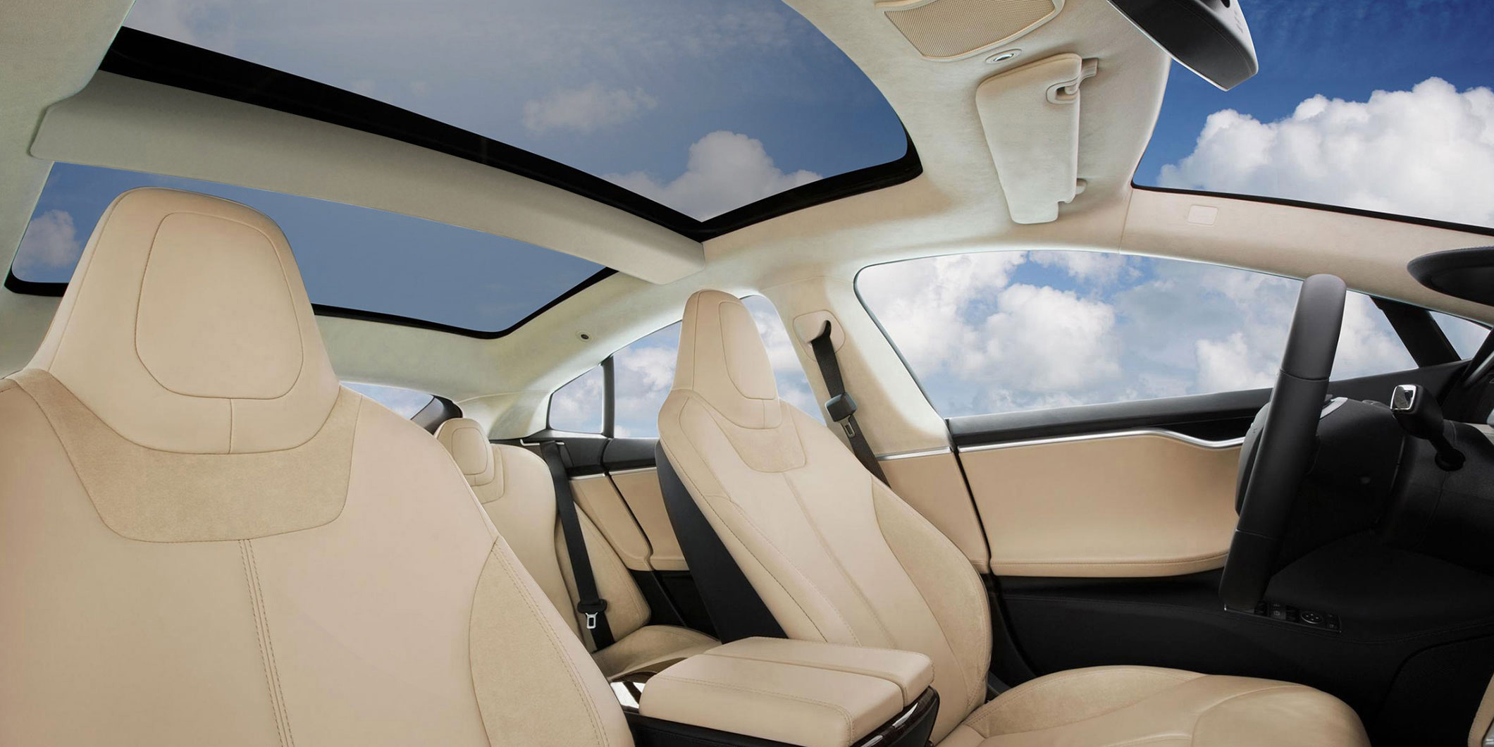 Tesla S85D Glass Panoraic Roof