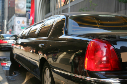 Limousine in the city