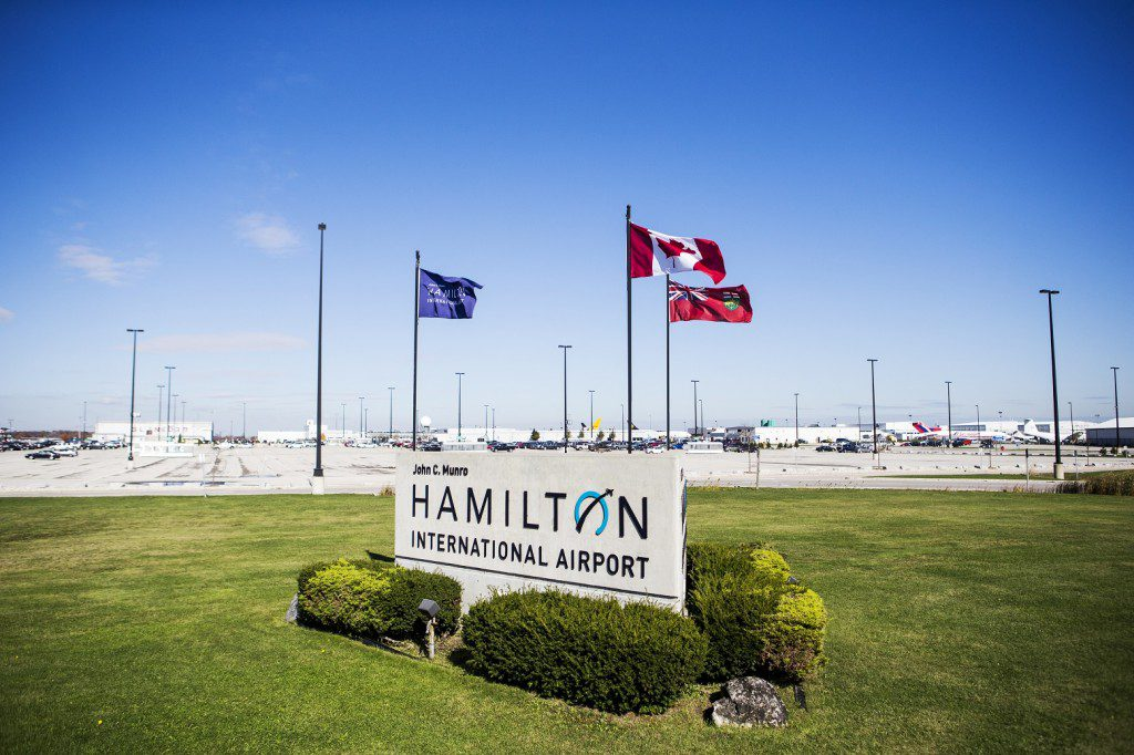 Entrance to John C. Munro Hamilton International Airport