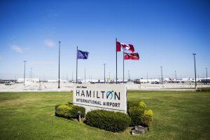 Entrance to John C. Munro Hamilton International Airport