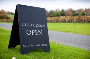 Cellar Door Open Sign