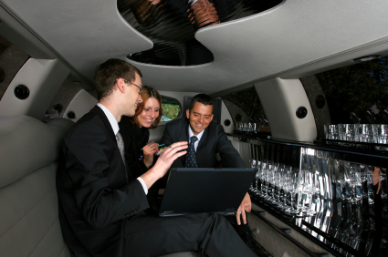 Executives in a Limo
