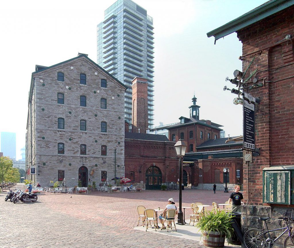 Distillery District street level