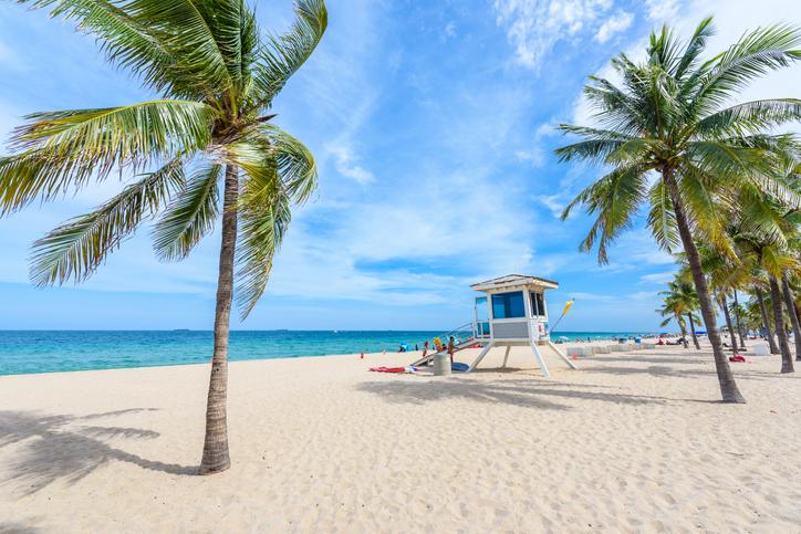 Paradise beach at Fort Lauderdale