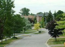 A Photo of a Street in Aurora, Ontario