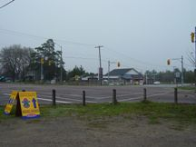 A Photo of an Intersection at Ballantrae, Ontario