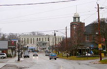 A photo of the Downtown in Beaverton, Ontario