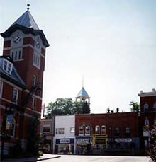 A Photo of the Downtown in Bracebridge, Ontario