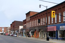 A Photo of a City Street in Brighton, Ontario