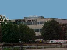 The city hall of Etobicoke, Ontario