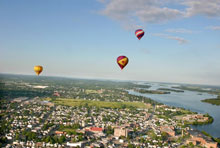 A photo of the Hot Air Balloons in Cornwall, Ontario