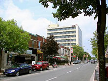 A photo of the Pitt Street in Cornwall, Ontario