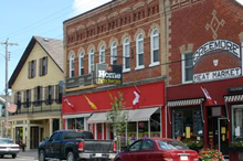 A downtown photo in Creemore, Ontario