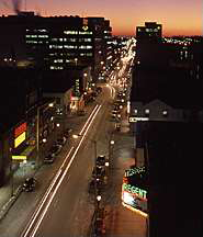 Photo of downtown Oshawa at night