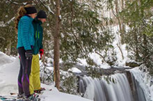 Photo of Hoggs Falls in Winter in Flesherton, Ontario