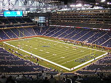 Photo of the Ford Field football stadium in Detroit, Michigan