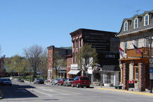 A photo of the King Street in Gananoque, Ontario