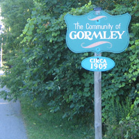A Photo of a Sign in Gormley, Ontario