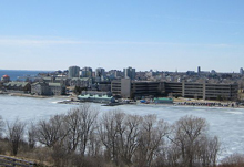 A photo of the Kingston, Ontario skyline