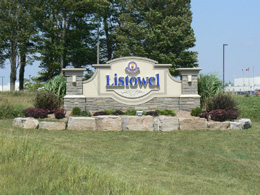 A Photo of Listowel, Ontario sign