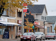 Photo of the Main Street in Newcastle, Ontario