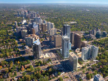 Aerial View of North York Ontario