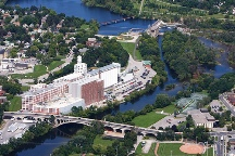 A Photo of Aerial View of Peterborough, Ontario