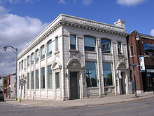Former bank building on West Street in Port Colborne