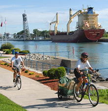 Southern part of the Welland Canal in Port Colborne