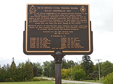 Photo of the RCAF Plaque in Hagersville, Ontario