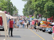 Summer festival in Ridgeway, Ontario