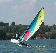 Photo of a man sailing in Selwyn, Ontario