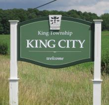 Photo of a Welcome to King City, Ontario sign