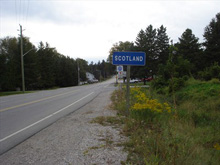 Photo of Welcome to Scotland sign