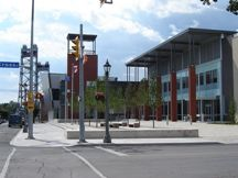 A photo of a Civic Square in Welland, Ontario