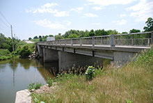 Photo of a bridge crossing the Conestogo River in Wellesley, Ontario